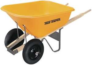 Ames/True Temper RP810 8 Cu. Ft. Poly Wheelbarrow With Dual Wheels