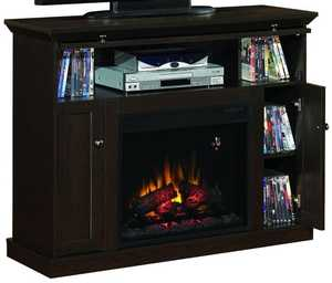 Twin-Star International 23DE9047-PE91 23 in Electric Fireplace Insert With Entertainment Mantel