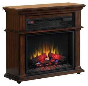 Twin-Star International 23IF1714-C247 Duraflame Bennington Infrared Rolling Electric Fireplace Mantel Meridian Cherry