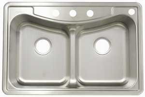 FrankeUSA FBFG904BX Stainless Steel Double Bowl Topmount Kitchen Sink