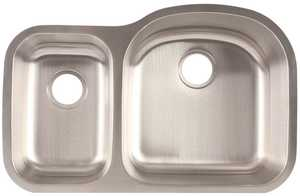 FrankeUSA FCU116 Stainless Steel Double Bowl Undermount Kitchen Sink