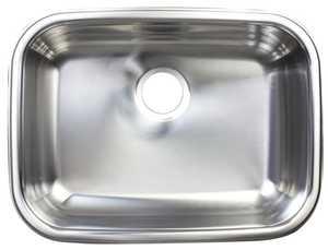 FrankeUSA FSUG800-18BX Stainless Steel Single Bowl Undermount Kitchen Sink