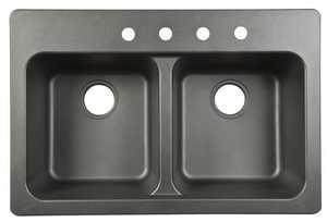 FrankeUSA FTB904BX Tectonite Double Bowl Dual Mount Kitchen Sink