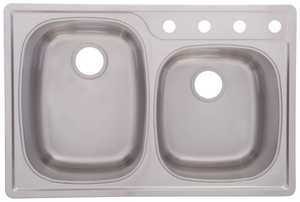FrankeUSA OSK954-18BX Stainless Steel Double Bowl Topmount Kitchen Sink
