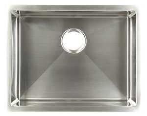 FrankeUSA UDTS24/10 Stainless Steel Single Bowl Undermount Kitchen Sink