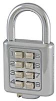 Howard Berger/Ultra Lock 55157R1 Black Dog Push Button Combination Padlock -- 55157r1