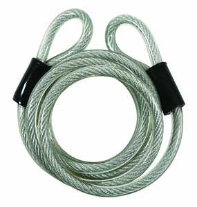 Guard Security 681 6-Foot X 5/16-Inch Vinyl Coated Coiled Cable With Loop Ends