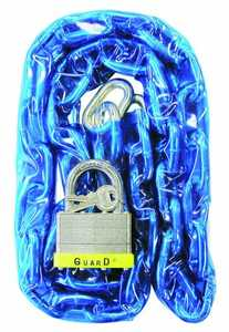 Howard Berger/Ultra Lock 832 Guard Security 832 Vinyl Covered Hardened Steel Chain With 744 Padlock, 4-Feet X 9/32-Inch