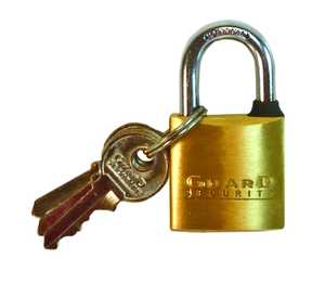 Howard Berger/Ultra Lock 622 Padlock Brass Solid 1 in