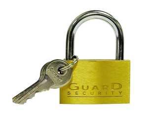 Howard Berger/Ultra Lock 1623 Padlock Brass Solid 11/4 in