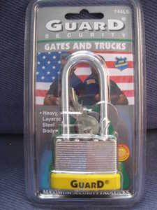 Howard Berger/Ultra Lock 744 Maximum Security Solid Steel Body Padlock, 1 3/4, 2 1/2 Long Shackle