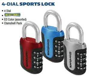Howard Berger/Ultra Lock PL-096-A1 Padlock 4-Dial Sports Lock