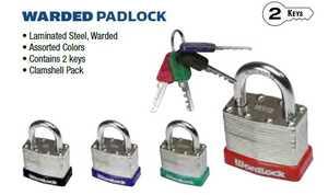 Howard Berger/Ultra Lock PL-117 A1 Padlock Warded Match Key 40mm