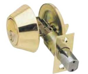 Howard Berger/Ultra Lock 43967 Single Cylinder Security Deadbolt, Polished Brass