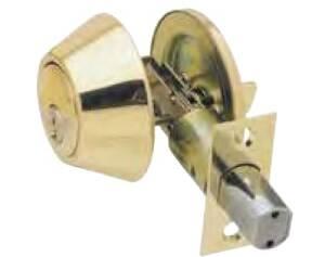 Howard Berger/Ultra Lock 43968 Double Cylinder Deadbolt, Polished Brass