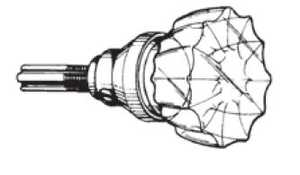 Howard Berger/Ultra Lock 43000 Knob Set Glass Pr