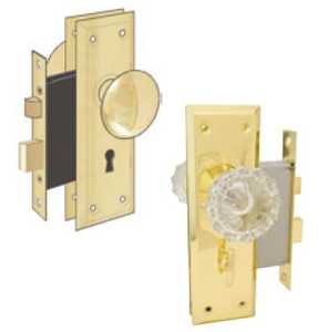 Howard Berger/Ultra Lock 44622 Lock Mortise Privacy Glass Knob