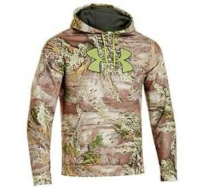 Under Armour 1249745-910 M Medium Realtree Max-1 Camouflage Armour Fleece Big Logo Fishing Hooded Sweatshirt