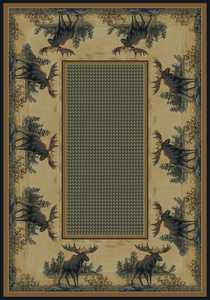United Weavers 532 40417 Area Rug 1 ft 11x7 ft 4 Northwood Moose