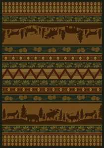 United Weavers 533 10643 Area Rug 5 ft 3x7 ft 6 Pine Valley