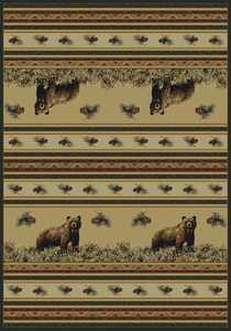 United Weavers 533 11017 Area Rug 3 ft 11x5 ft 3 Pine Creek Bear N