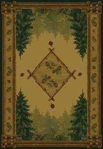 United Weavers 530 51043 Rug 5 ft 3 x 7 ft 6 Forest Trail Lodge