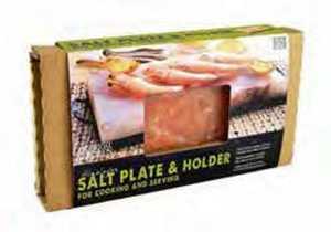 The Companion Group CC6064 12x8-Inch Himalayan Salt Plate With Holder Set