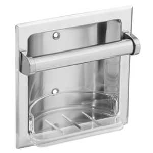 CSI/Moen 2565CH Donner Chrome Recessed Soap Holder and Utility Bar