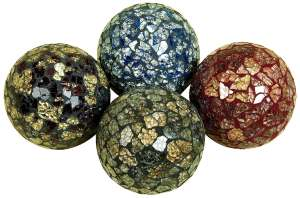 Uma Enterprises Inc. 15952 Decorative Mosaic Ball Set of 4