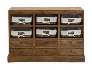 Uma Enterprises Inc. 45251 Wood Dresser with Baskets 44X34