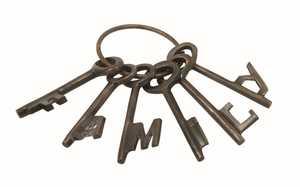 Uma Enterprises Inc. 49609 Aluminum and Bronze Decorative Keys