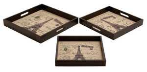 Uma Enterprises Inc. 54122 Wood and Leather Tray 12 in Small
