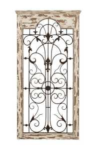 Uma Enterprises Inc. 55956 Wood and Metal Wall Decoration 51X27