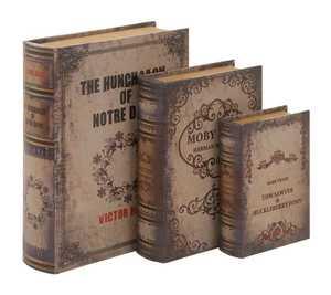 Uma Enterprises Inc. 59355 Wood and Leather Book Box 11 in Medium