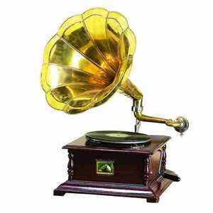 Uma Enterprises Inc. 5668 Wood And Metal Gramophone 27 in