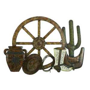 Uma Enterprises Inc. 13704 Decor Wall Western Metal 32 In X 23 In