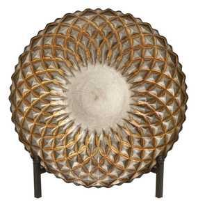 Uma Enterprises Inc. 62400 Roulette Curve Glass Bowl 16 in