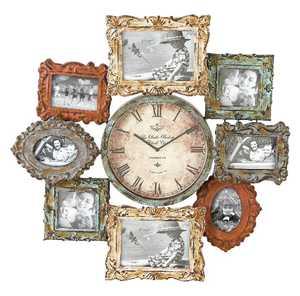 Uma Enterprises Inc. 68412 Photo Frame Metal Clock 25X25