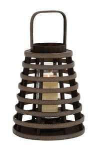 Uma Enterprises Inc. 76159 Wood and Glass Candle Lantern 11X19