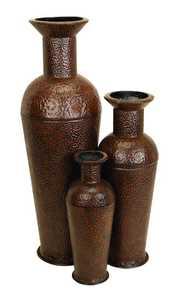 Uma Enterprises Inc. 90379 Metal Vase 35 in Medium