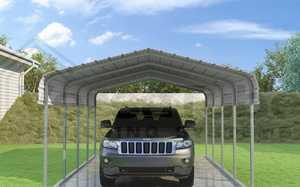 VERSA TUBE BLDG SYSTEMS CM012180060S 12x20x7-Foot Single Carport/Shelter