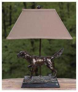 Vintage Verandah L7082AZG Table Lamp Hunting Dog 28 in