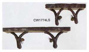 Vintage Verandah CW1774LS Pinecone Wall Shelf Set Of 2