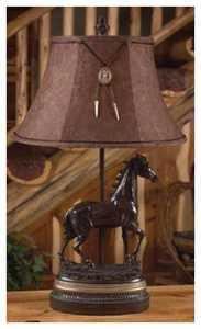 Vintage Verandah CL1770 Running Free 30 in H Table Lamp 8/10 x 13/18 x 11 Moleskin