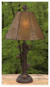 Vintage Verandah CL1774 Pinecone 31 in H Table Lamp 7 x 17 x 12 Painted Rawhide