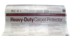 WJ Dennis VDP27075 Heavy Duty Vinyl Runner For Deep Pile Carpet, Clear