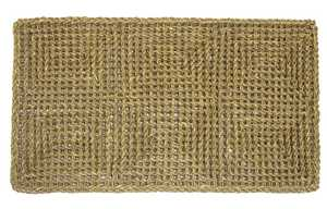 WJ Dennis CORD1830 18 in X 30 in Outdoor Cordial Series Entry Mat, Natural Seagrass