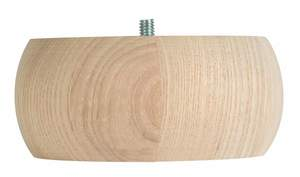Waddell Manufacturing 2731 5-Inch Round Pine Furniture-Ready Bun Foot
