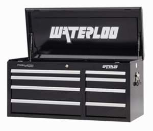 Waterloo Industries WCH-418BK-L 40-1/2-Inch 8-Drawer Black Tool Chest