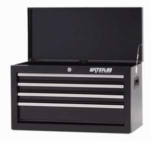 Waterloo Industries SCH-264BK-B 26-Inch 4-Drawer Black Tool Chest